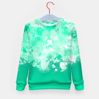 Miniature de image de paint splatter on gradient pattern magi Kid's sweater, Live Heroes