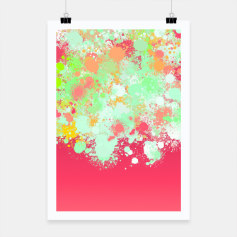 paint splatter on gradient pattern tgpi Poster miniature