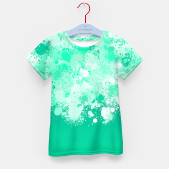 Miniature de image de paint splatter on gradient pattern magi Kid's t-shirt, Live Heroes