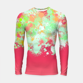 paint splatter on gradient pattern tgpi Longsleeve rashguard  miniature