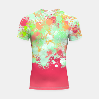 paint splatter on gradient pattern tgpi Shortsleeve rashguard miniature