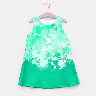 Miniature de image de paint splatter on gradient pattern magi Girl's summer dress, Live Heroes
