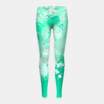 Miniature de image de paint splatter on gradient pattern magi Girl's leggings, Live Heroes