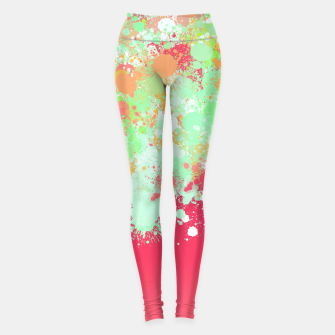 Miniature de image de paint splatter on gradient pattern tgpi Leggings, Live Heroes