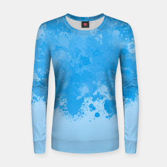 Miniature de image de paint splatter on gradient pattern wb Women sweater, Live Heroes