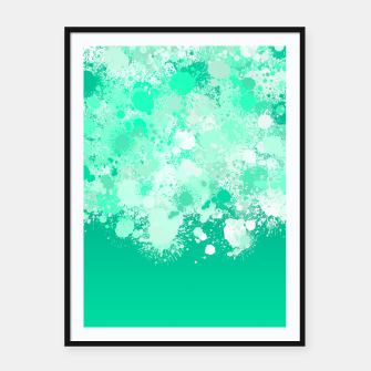 Miniature de image de paint splatter on gradient pattern magi Framed poster, Live Heroes