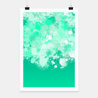Miniature de image de paint splatter on gradient pattern magi Poster, Live Heroes