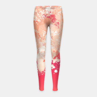 Miniature de image de paint splatter on gradient pattern bti Girl's leggings, Live Heroes