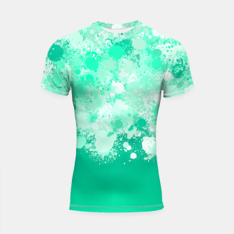 Miniature de image de paint splatter on gradient pattern magi Shortsleeve rashguard, Live Heroes