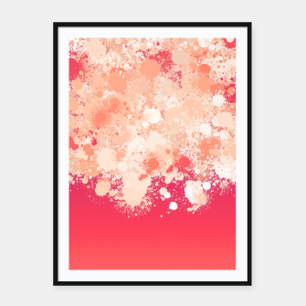 Miniature de image de paint splatter on gradient pattern bti Framed poster, Live Heroes
