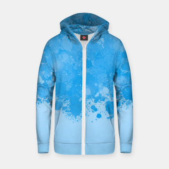 Miniature de image de paint splatter on gradient pattern wb Zip up hoodie, Live Heroes