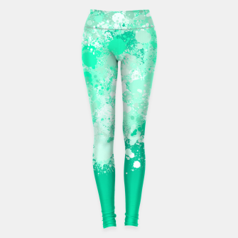 Miniature de image de paint splatter on gradient pattern magi Leggings, Live Heroes