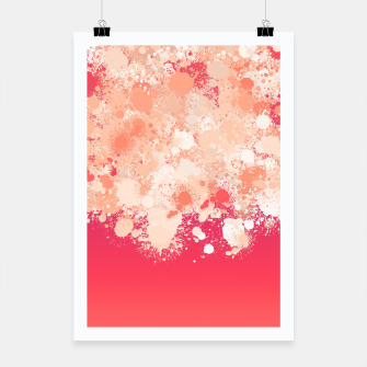 Miniature de image de paint splatter on gradient pattern bti Poster, Live Heroes