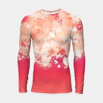 paint splatter on gradient pattern bti Longsleeve rashguard  miniature