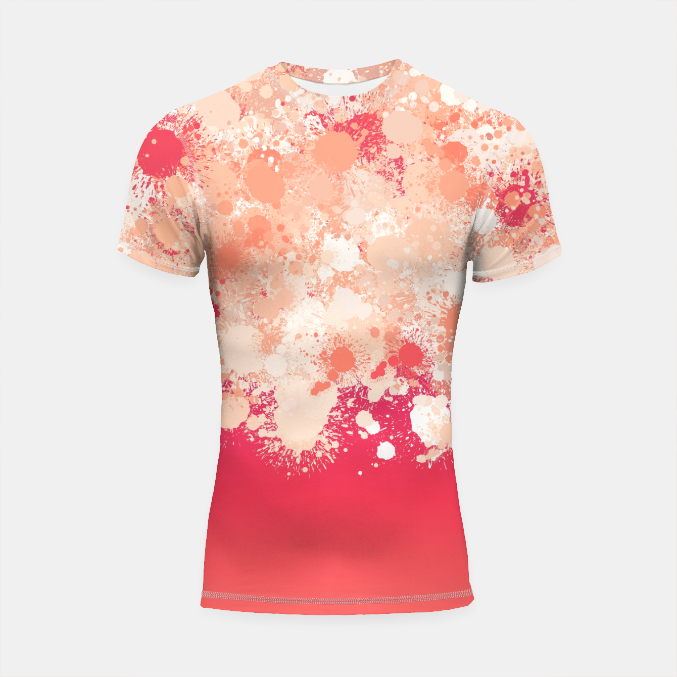 Image de paint splatter on gradient pattern bti Shortsleeve rashguard - Live Heroes