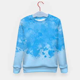 Miniature de image de paint splatter on gradient pattern wb Kid's sweater, Live Heroes