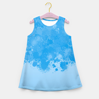 Miniature de image de paint splatter on gradient pattern wb Girl's summer dress, Live Heroes