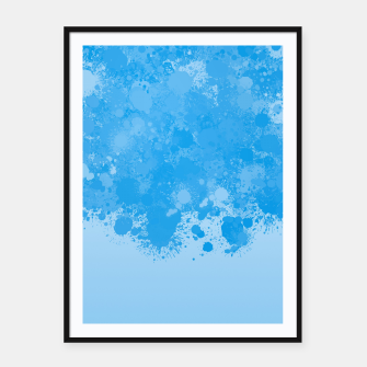 Miniature de image de paint splatter on gradient pattern wb Framed poster, Live Heroes