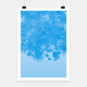Miniature de image de paint splatter on gradient pattern wb Poster, Live Heroes