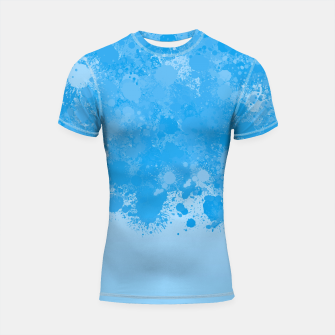 Miniature de image de paint splatter on gradient pattern wb Shortsleeve rashguard, Live Heroes