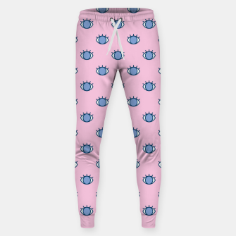 Thumbnail image of Blue Eyes Pattern Sweatpants, Live Heroes