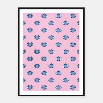Thumbnail image of Blue Eyes Pattern Framed poster, Live Heroes