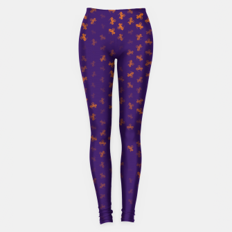capricorn zodiac sign pattern po Leggings miniature