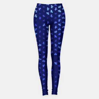 capricorn zodiac sign pattern std Leggings miniature