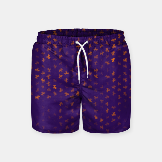 capricorn zodiac sign pattern po Swim Shorts miniature