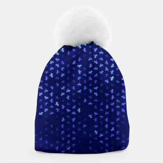 Thumbnail image of capricorn zodiac sign pattern std Beanie, Live Heroes