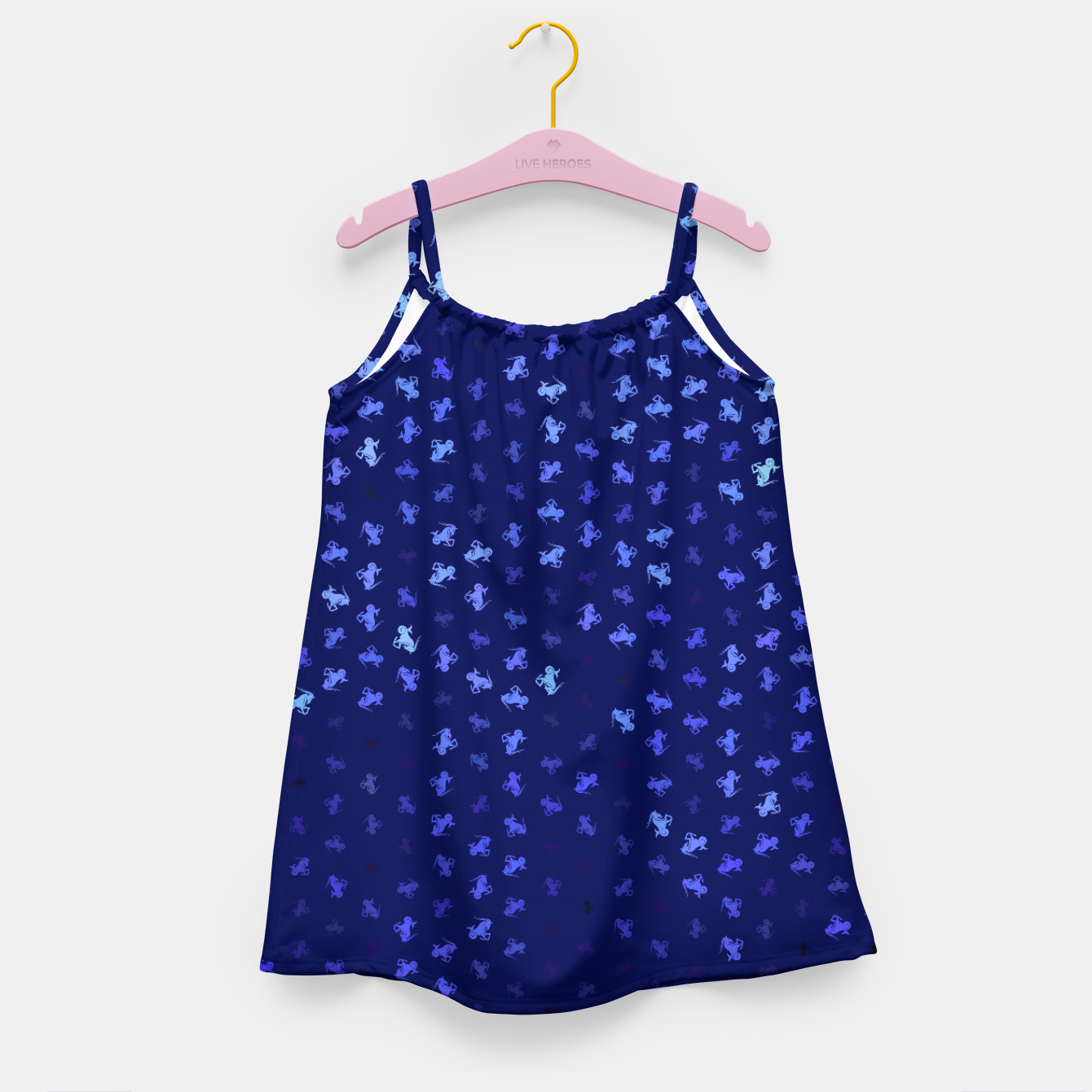 Image de capricorn zodiac sign pattern std Girl's dress - Live Heroes
