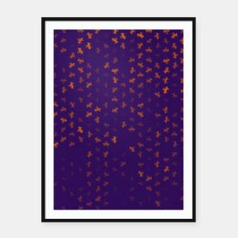 Thumbnail image of capricorn zodiac sign pattern po Framed poster, Live Heroes