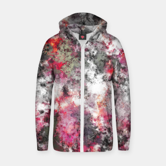 Thumbnail image of Frosty pink Zip up hoodie, Live Heroes