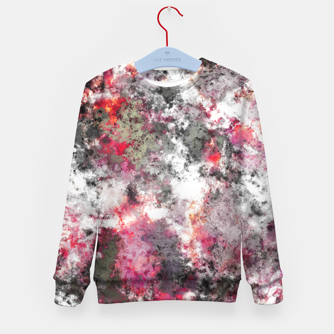 Image of Frosty pink Kid's sweater - Live Heroes