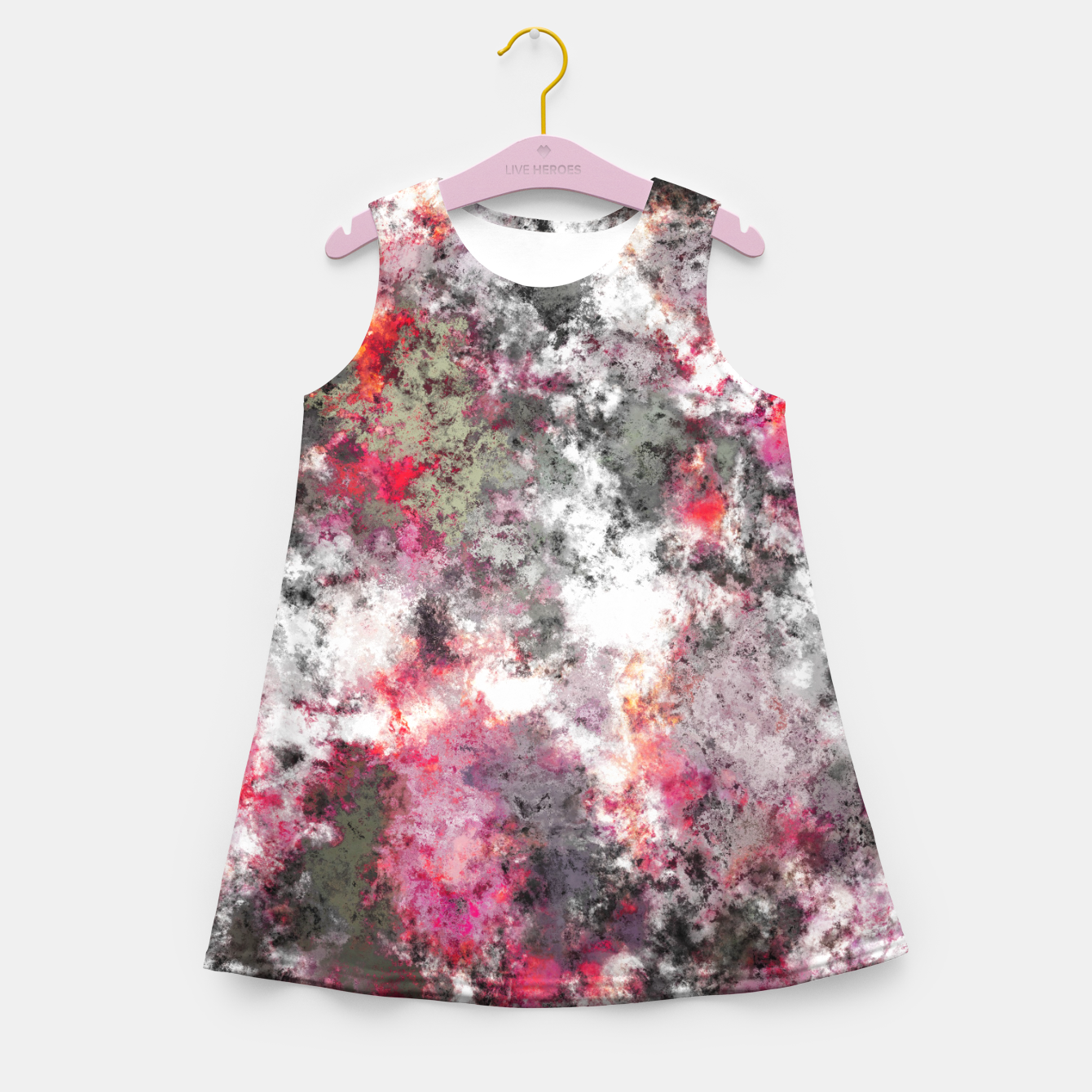 Image of Frosty pink Girl's summer dress - Live Heroes