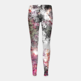 Thumbnail image of Frosty pink Girl's leggings, Live Heroes