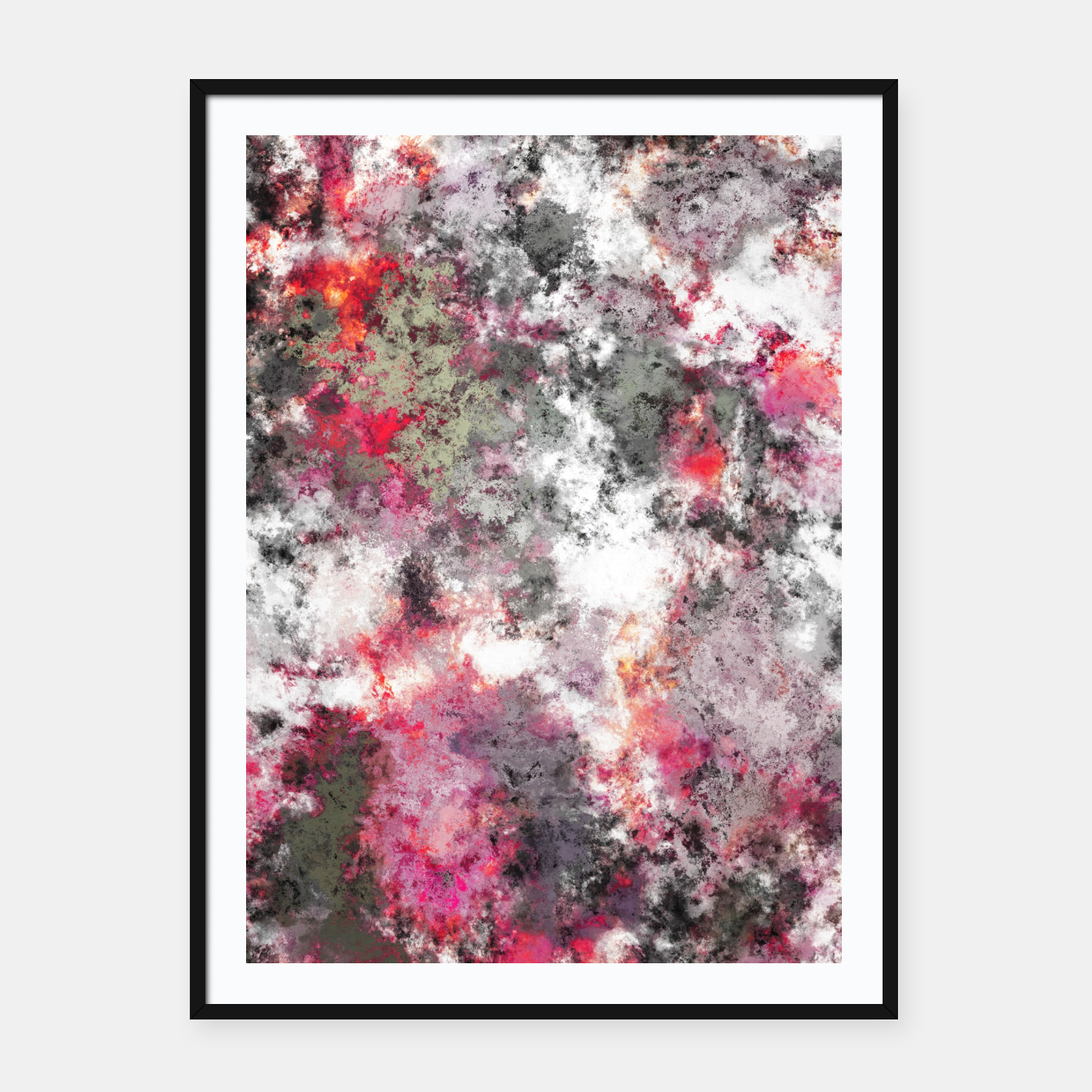 Image of Frosty pink Framed poster - Live Heroes
