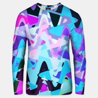 Miniaturka Electric waves, techno abstraction in rich colors, music waves in violet Unisex sweater, Live Heroes