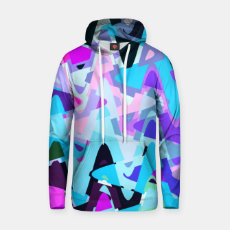 Miniaturka Electric waves, techno abstraction in rich colors, music waves in violet Hoodie, Live Heroes