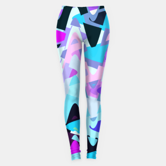 Miniature de image de Electric waves, techno abstraction in rich colors, music waves in violet Leggings, Live Heroes