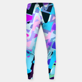 Miniature de image de Electric waves, techno abstraction in rich colors, music waves in violet Sweatpants, Live Heroes