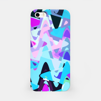 Miniature de image de Electric waves, techno abstraction in rich colors, music waves in violet iPhone Case, Live Heroes