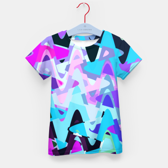 Miniature de image de Electric waves, techno abstraction in rich colors, music waves in violet Kid's t-shirt, Live Heroes