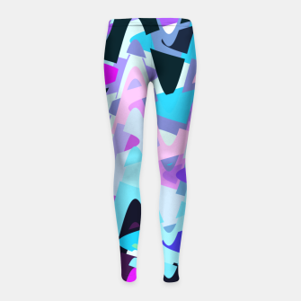 Miniature de image de Electric waves, techno abstraction in rich colors, music waves in violet Girl's leggings, Live Heroes