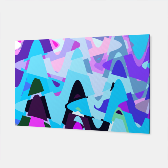 Miniature de image de Electric waves, techno abstraction in rich colors, music waves in violet Canvas, Live Heroes