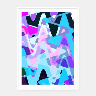 Miniature de image de Electric waves, techno abstraction in rich colors, music waves in violet Framed poster, Live Heroes