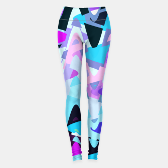 Miniaturka Electric waves, techno abstraction in rich colors, music waves in violet Leggings, Live Heroes