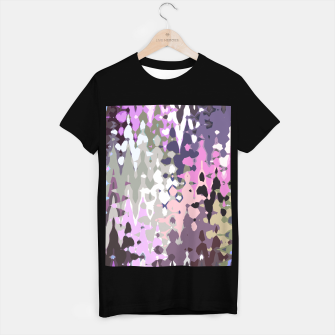 Thumbnail image of Violet shades wood, abstract geometric jagged shapes, sharp forms T-shirt regular, Live Heroes