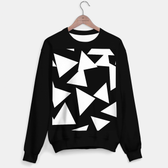 Thumbnail image of Flying Triangles Black and White Sweater regular, Live Heroes