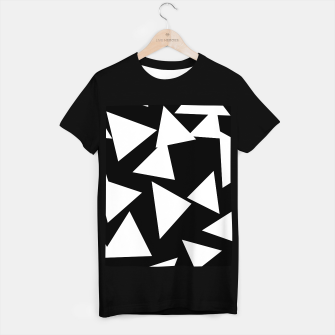 Thumbnail image of Flying Triangles Black and White T-shirt regular, Live Heroes